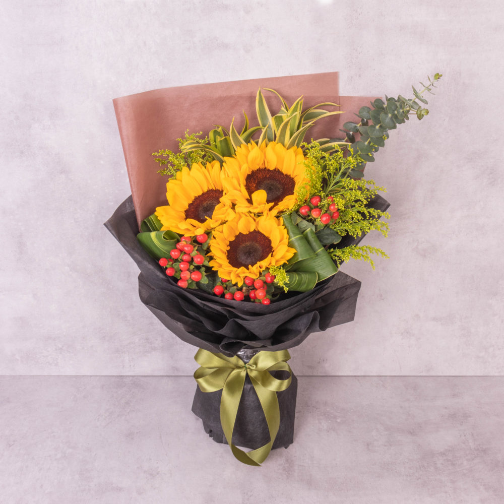 Alisa Sunflower Bouquet by farmflorist 1