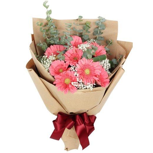Angeline 12 gerbera bouquet by farm florist singapore