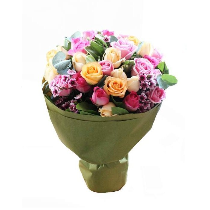 april rose bouquet by farm florist