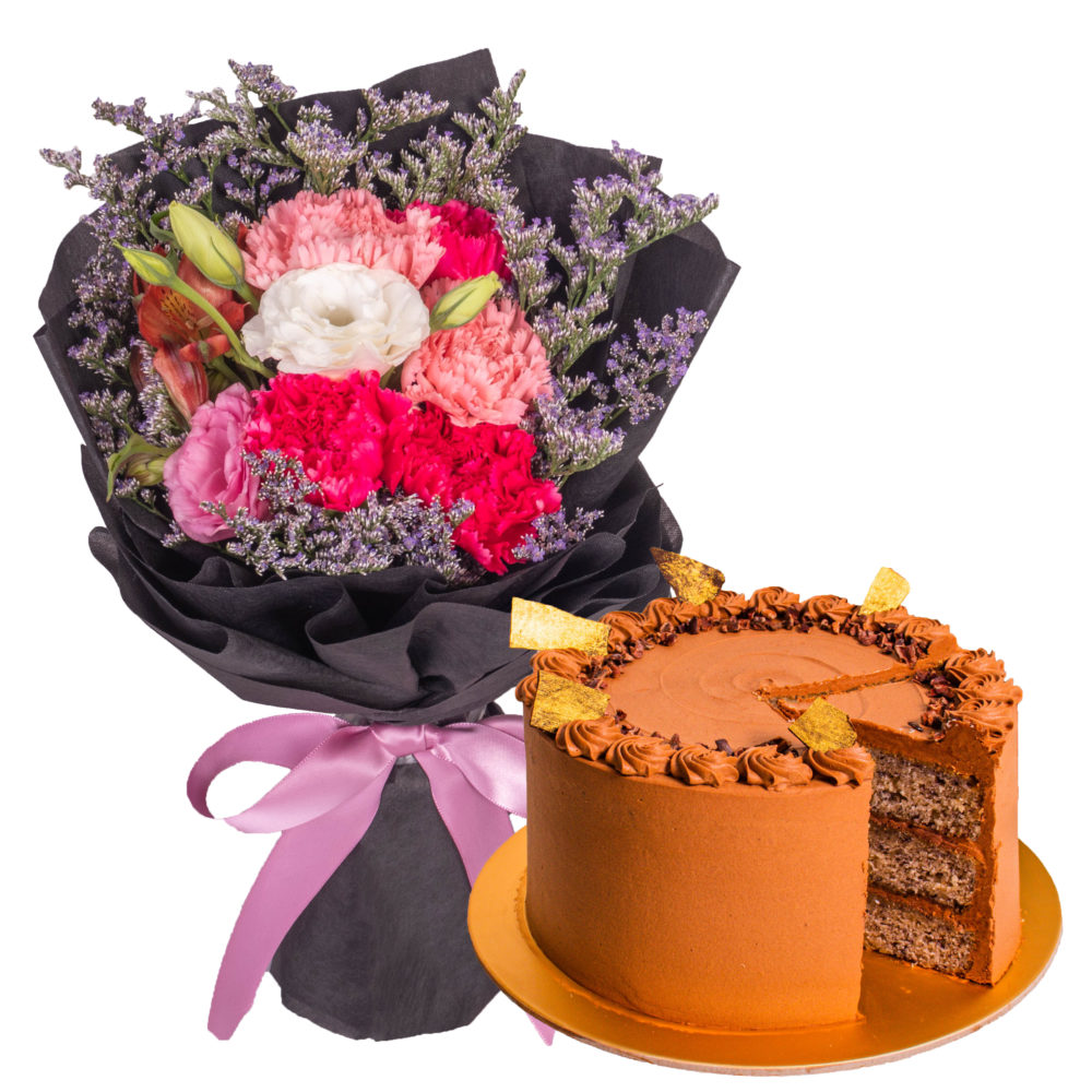 Okinawa Milk Tea Brown Sugar Jelly Cake IWD Bundle by Farmflorist